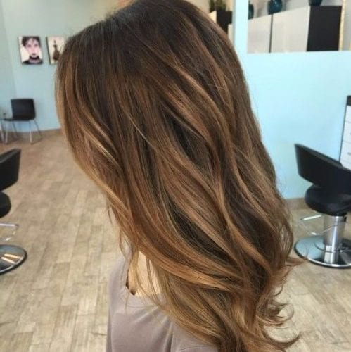 ash brown balayage hair color