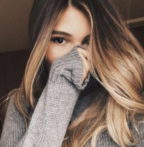 brown wheat balayage hair color
