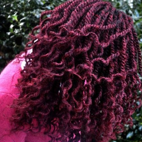 burgundy kinky twists