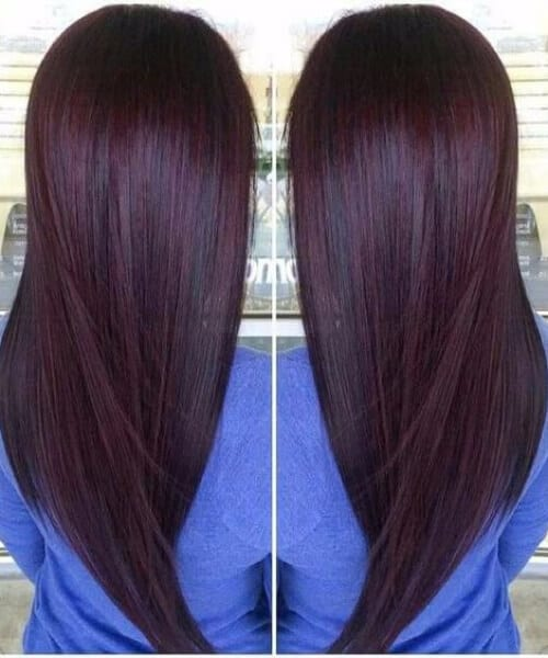 cherry chocolate brown hair