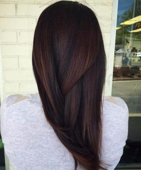 chocolate brown hair brass peekaboos