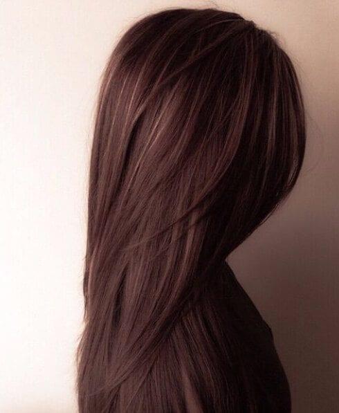 chocolate brown hair golden peekaboos