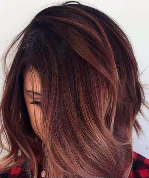 chocolate brown hair highlights