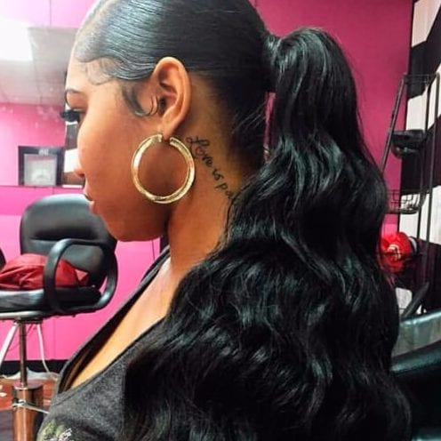 classy ponytail weave hairstyles