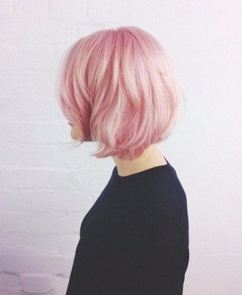 cotton candy pink medium length hairstyles
