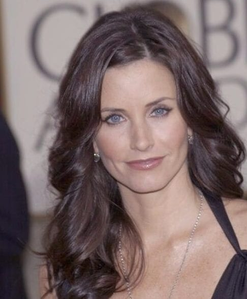 courtney cox chocolate brown hair