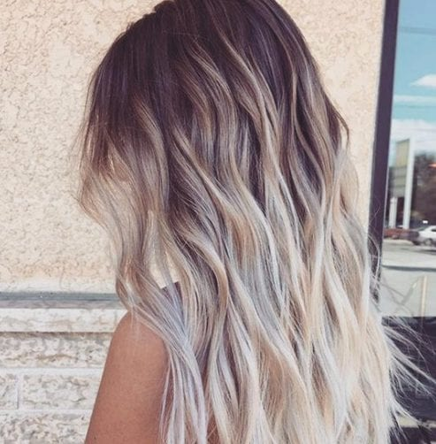 creamy summer balayage hair color