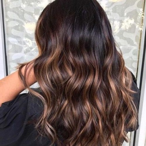 dark coconut balayage hair color