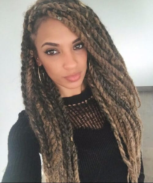 dark tan kinky twists