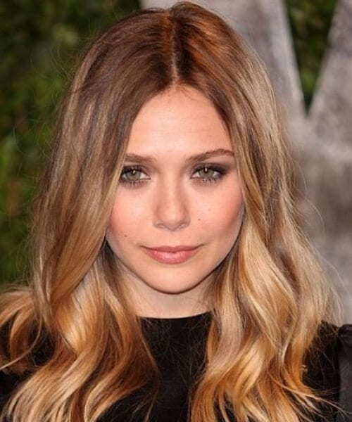 elizabeth olsen bronde medium length hairstyles