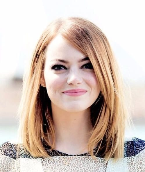 emma stone medium length hairstyles