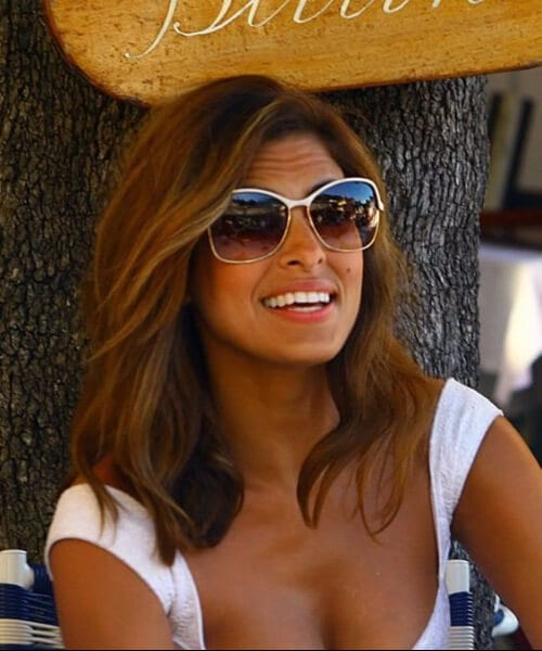 eva mendes medium length hairstyles