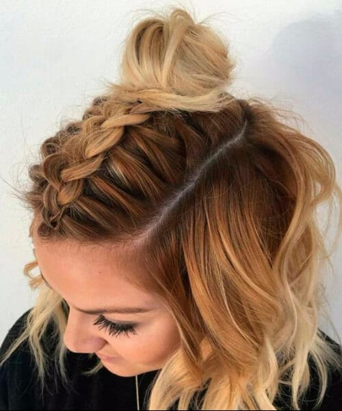 french braid medium length hairstyles