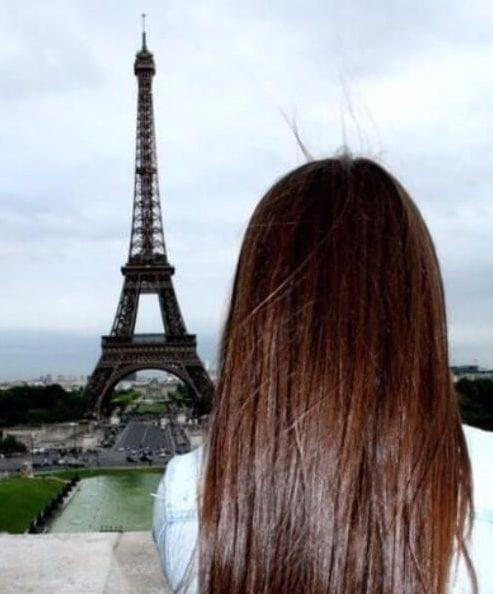 glossy chocolate brown hair