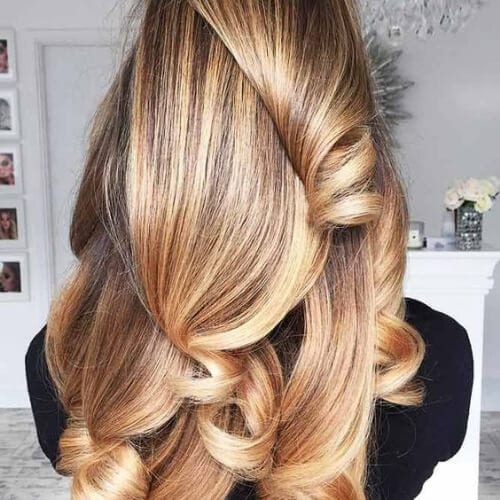 golden balayage hair color