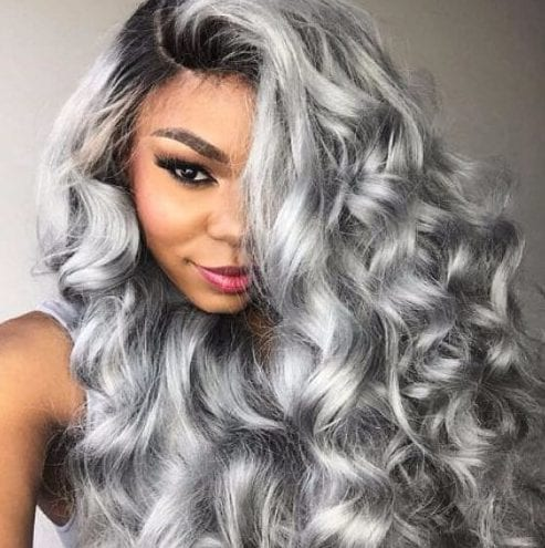 gun mental gray weave hairstyles