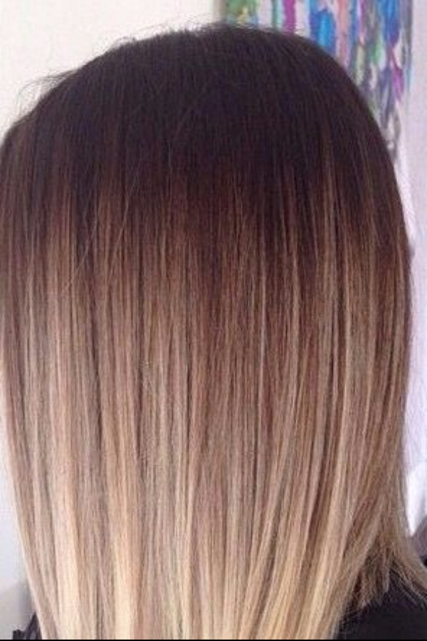 iced mocha with cream balayage hair color