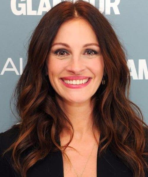 julia roberts chocolate brown hair