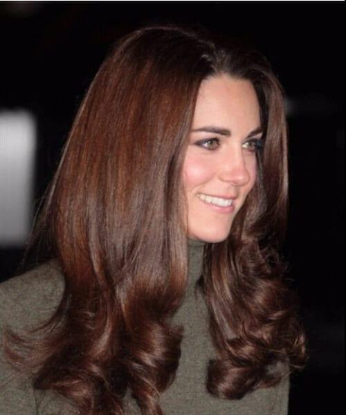 kate middleton chocolate brown hair