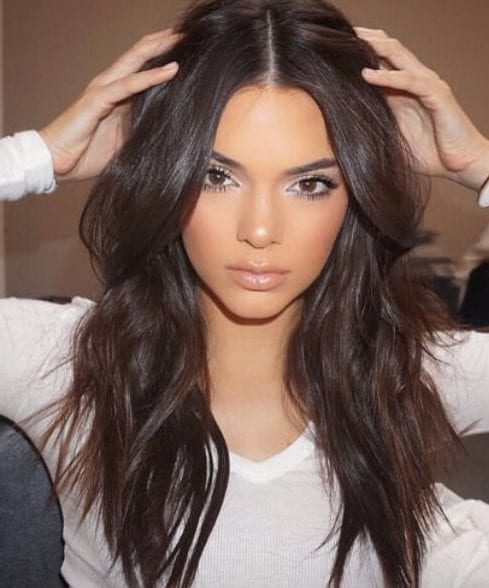 kendall jenner chocolate brown hair