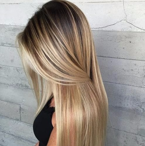 light ash blonde balayage hair color
