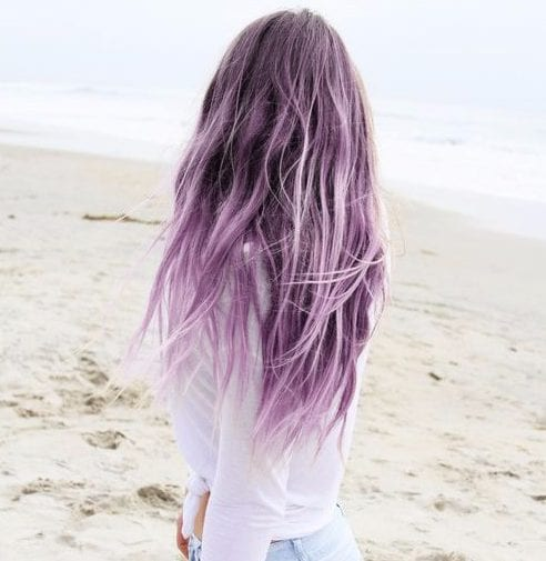 lilac balayage hair color