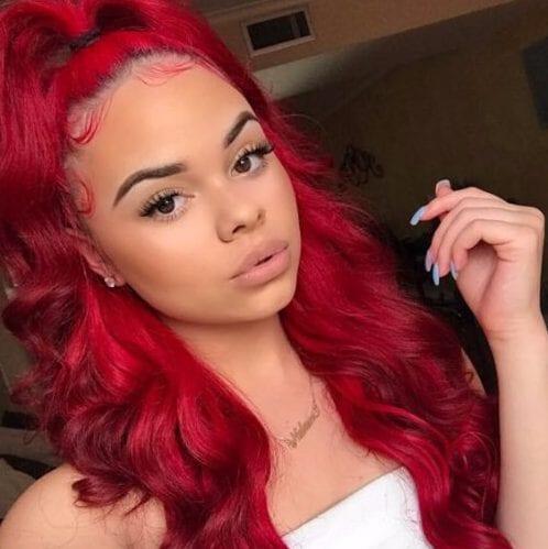 magenta weave hairstyles