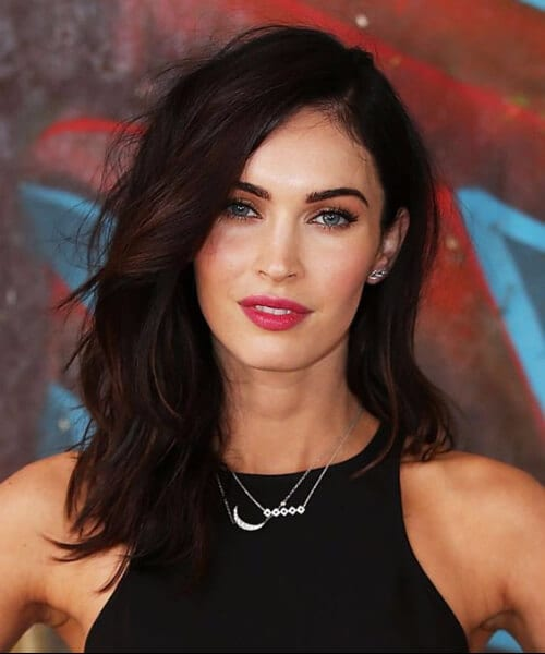 megan fox medium length hairstyles