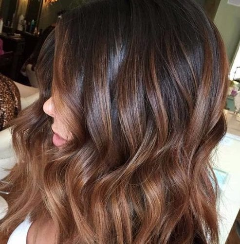 milk cocoa balayage hair color