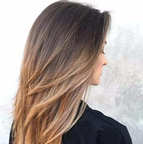 ombre layered haircuts