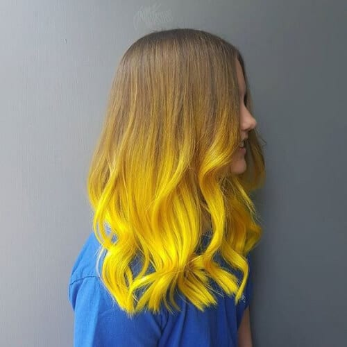 solar yellow balayage hair color