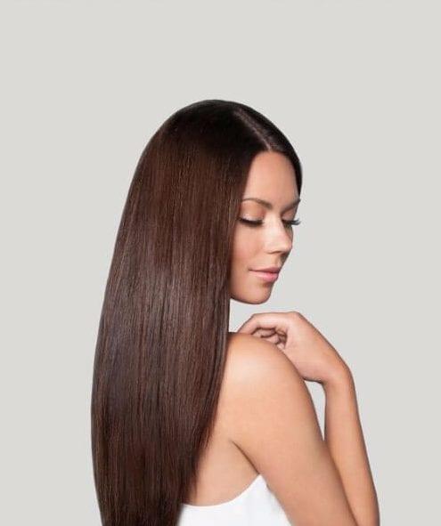 straight chocolate brown hair