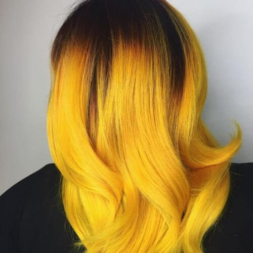 sunflower yellow layered haircuts
