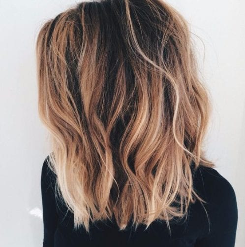sweet copper balayage hair color
