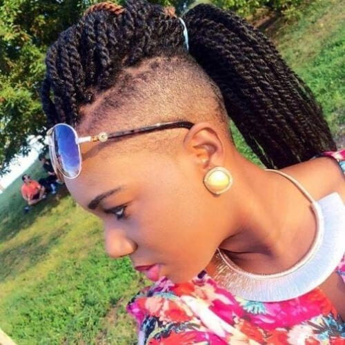 undershave kinky twist hairstyles