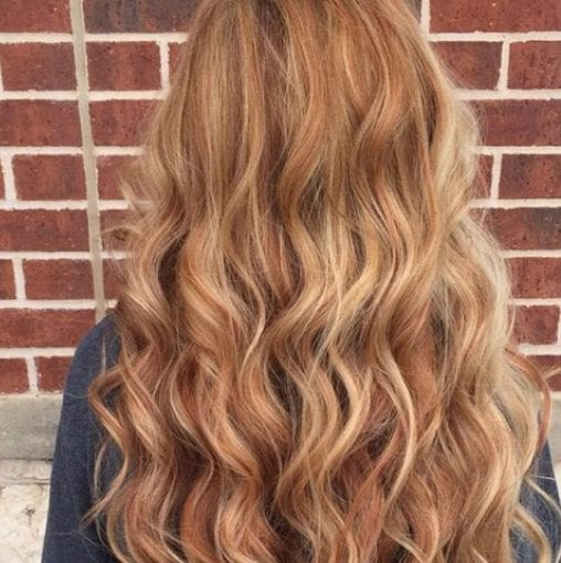 vanilla lush and light mocha balayage hair color