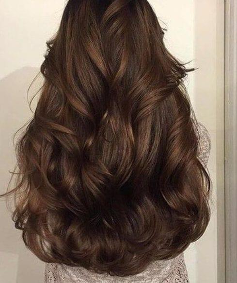 vertical waves chocolate brown hair