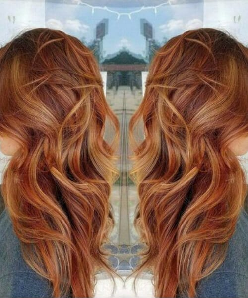 Balayage Hair Red And Blonde fall hair colors
