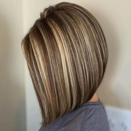 Brown hair With Blonde Highlights long
