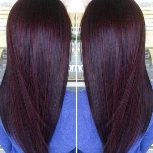 Chocolate cherry plum hair color