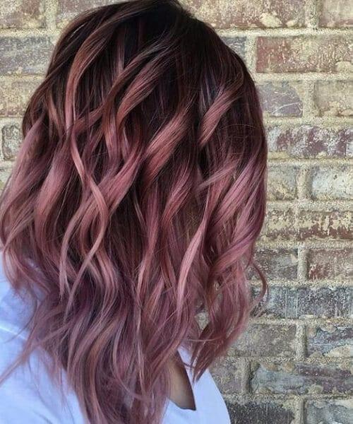 Fall Rose Melt fall hair colors