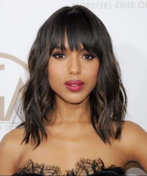 Kerry Washington hairstyles with bangs
