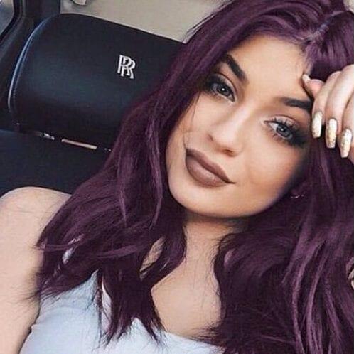 Kylie Jenner plum hair color