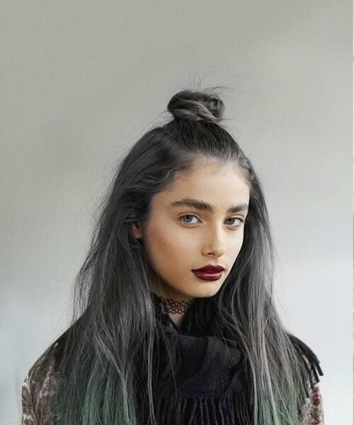 Lunar Tides Hair Slate Grey Juniper Green fall hair colors