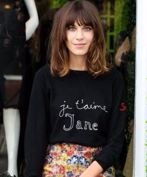 alexa chung hairstyles with bangs