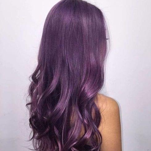 antique fuchsia plum hair color