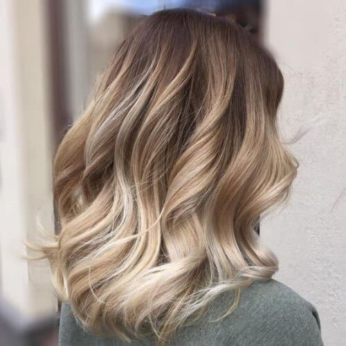 balayage brown hair with blonde highlights