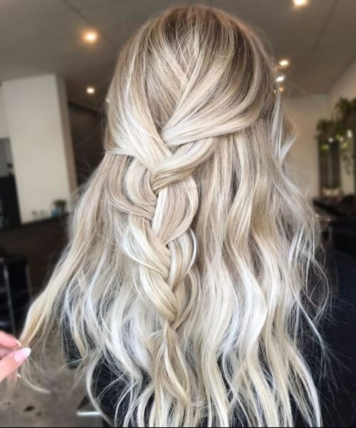 braided blonde balayage