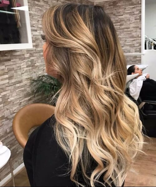 brass blonde balayage