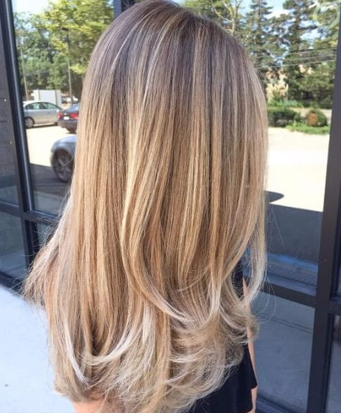bronde and golden blonde balayage